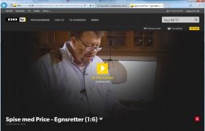 Egnsretter er temaet for 6 afsnit af Spise med Price